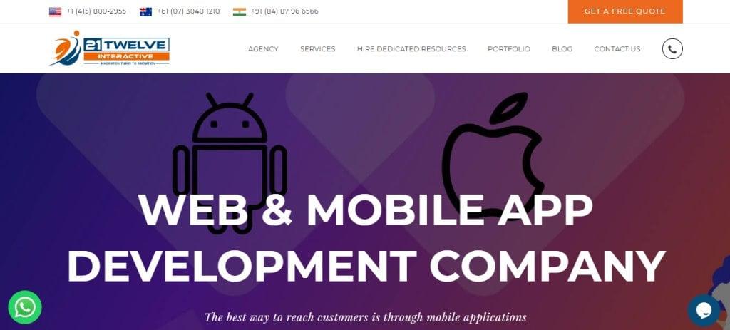 21Twelve Top App Developers in Singapore