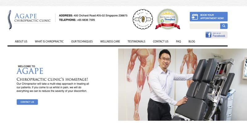 AGAPE Chiropractic Clinic digital marketing