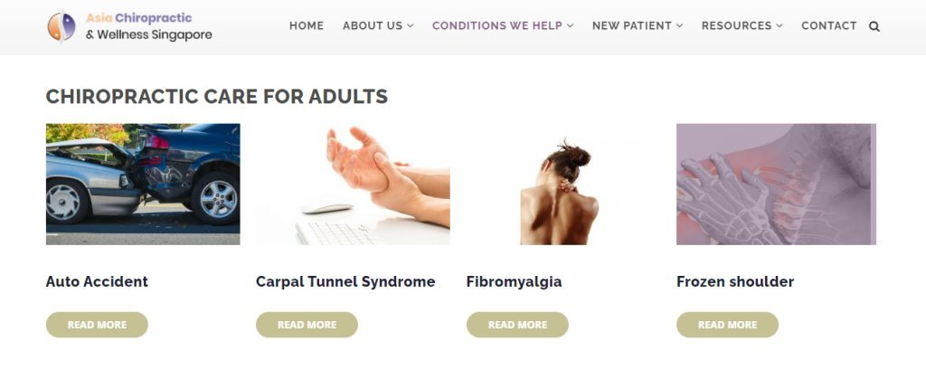 Asia Chiropractic Top Chiropractic Clinics in Singapore