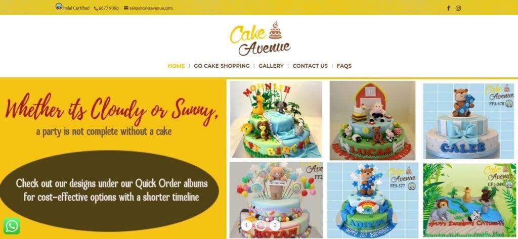 Cake Avenue Top Birthday Cakes In Singapore