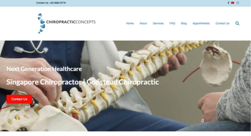 Chiropractic Concepts digital marketing