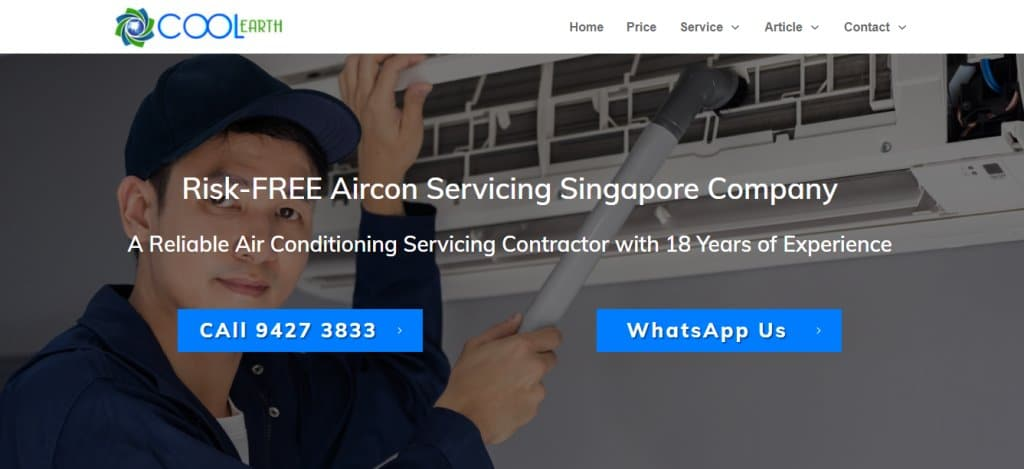 Cool Earth Top Air Conditioning Services In Singapore