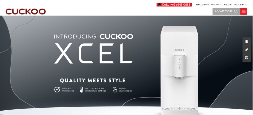 Cuckoo Top Water Dispensers In Singapore
