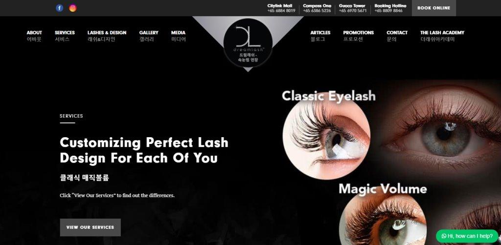 Dream Lash Top Eyelash Extension In Singapore