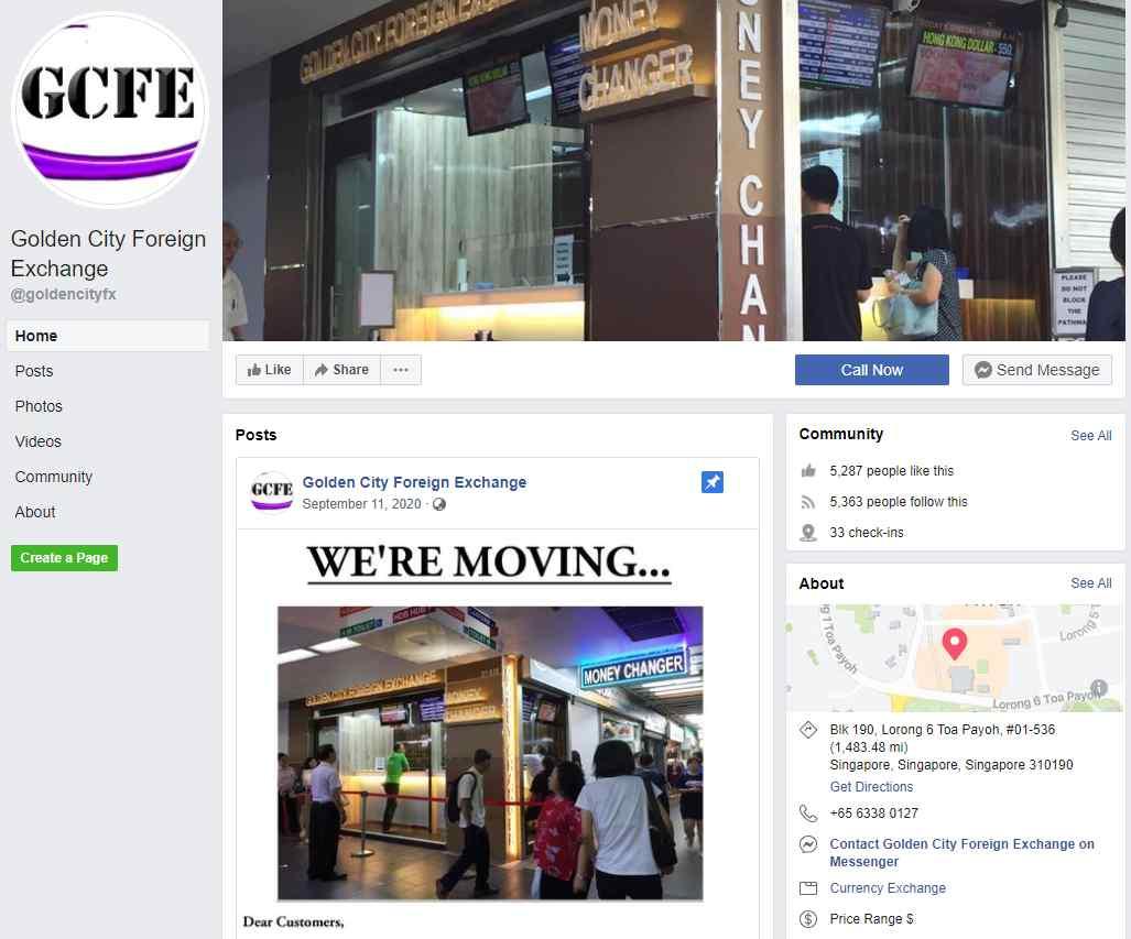 Golden City Top Money Changers In Singapore