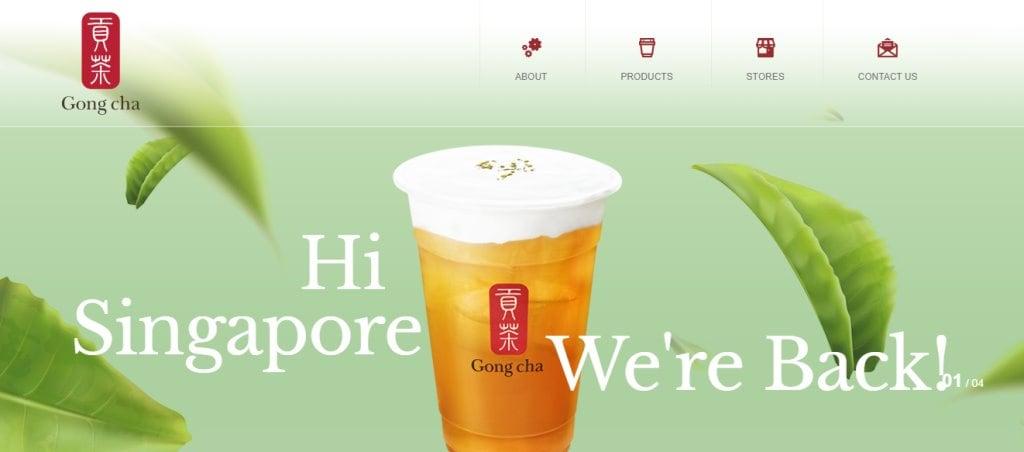 Gong Cha Top Bubble Tea Cafes In Singapore