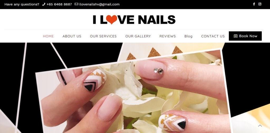 I love nails Top Manicure & Pedicure In Singapore