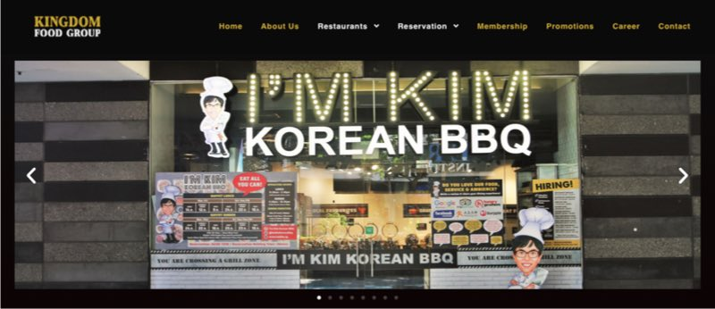 I'm Kim Korean BBQ digital marketing