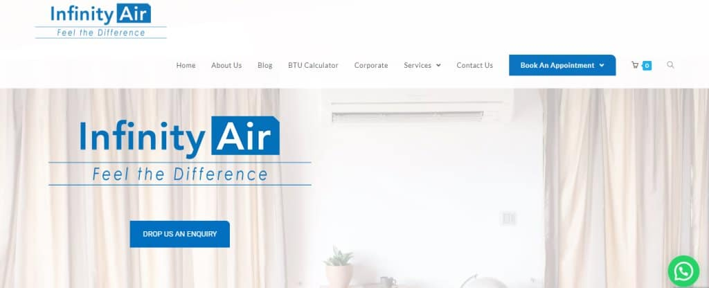Infinity Air Top Air Conditioning Services In Singapore