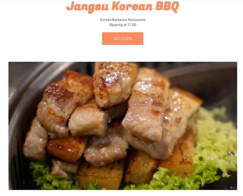 Jangsu Korean BBQ digital marketing
