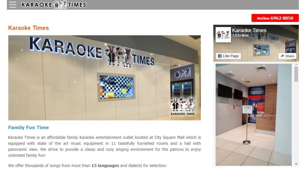 Karaoke Times Top KTV Studios In Singapore