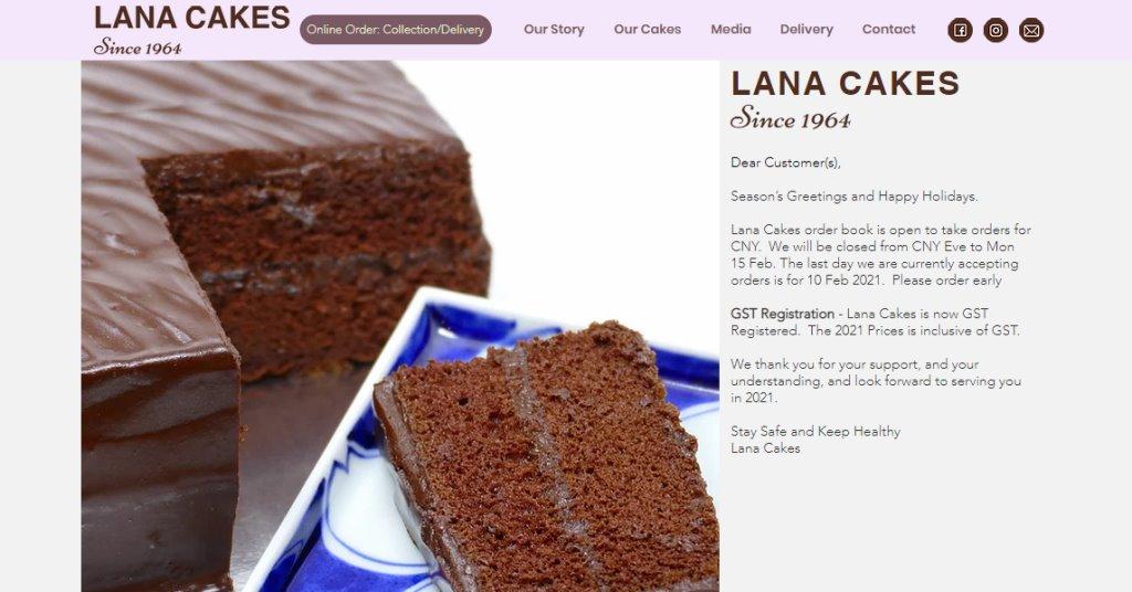 LANA Cakes Top Birthday Cakes In Singapore