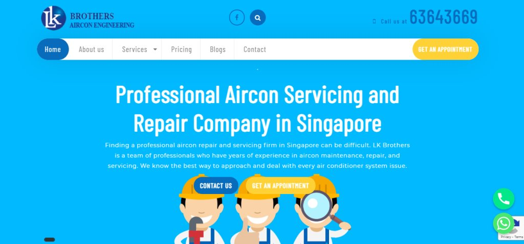 LK Brothers Top Air Conditioning Services In Singapore