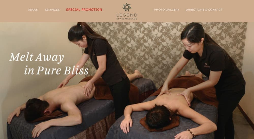 Legend Spa top massage singapore