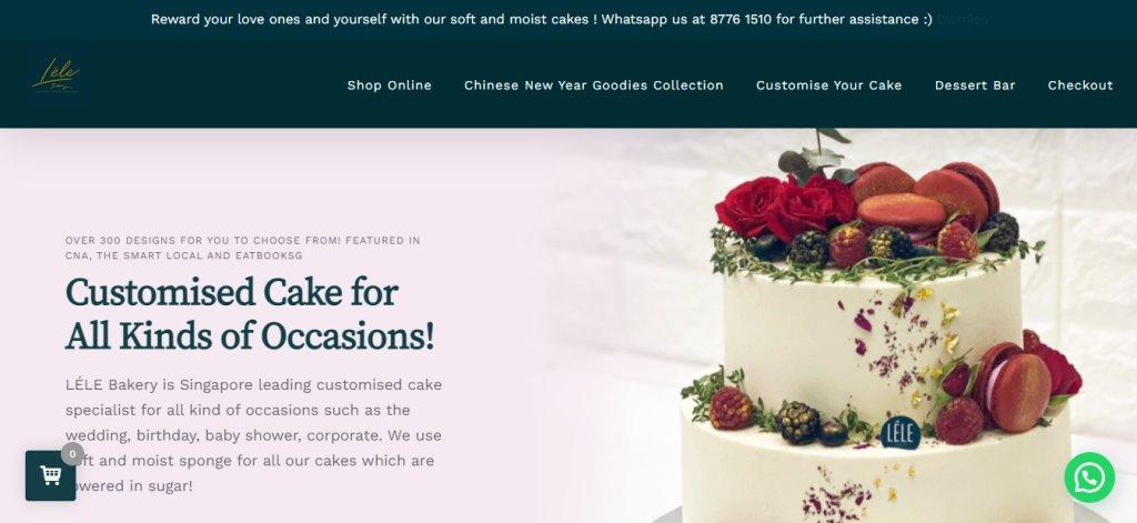 Lele Top Birthday Cakes In Singapore