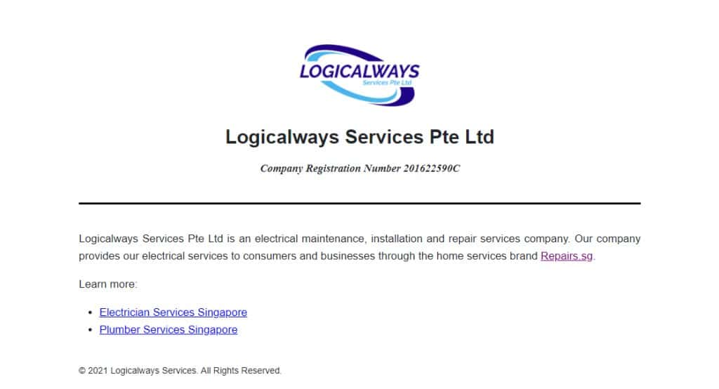 Logicalways Top Electricians in Singapore