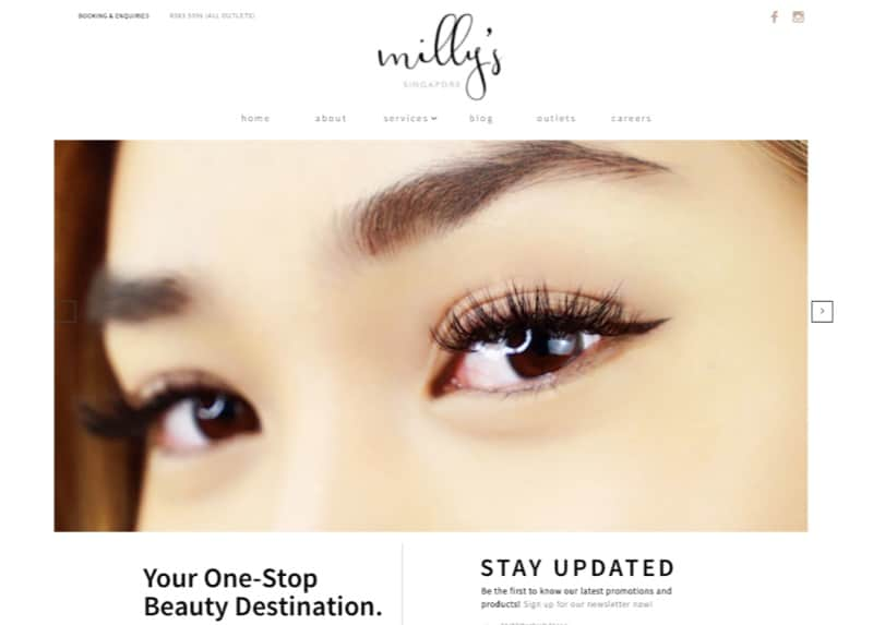 Millys eyebrow embroidery digital marketing
