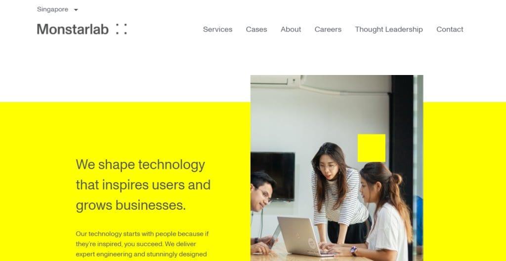 Monstar Lab Top App Developers in Singapore