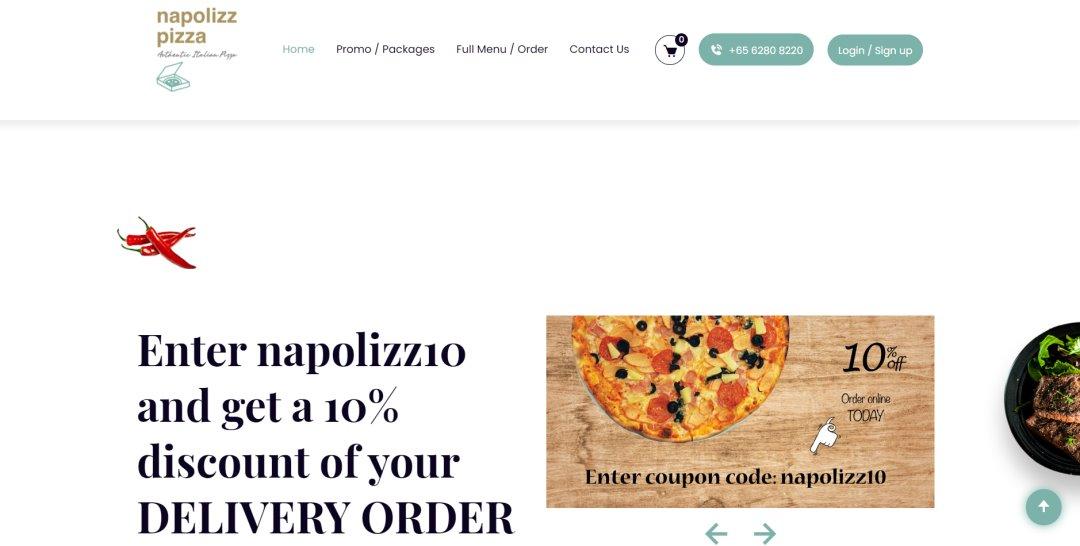 Napolizz Top Pizza Deliveries In Singapore
