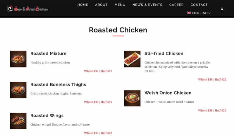 Oven & Fried Chicken Restaurant digital marketing