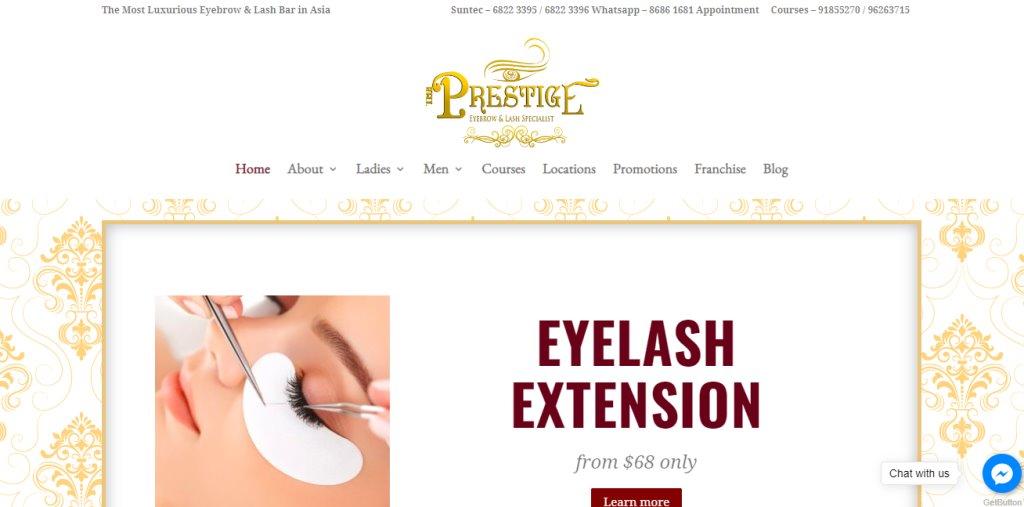 Prestige Top Eyelash Extension In Singapore