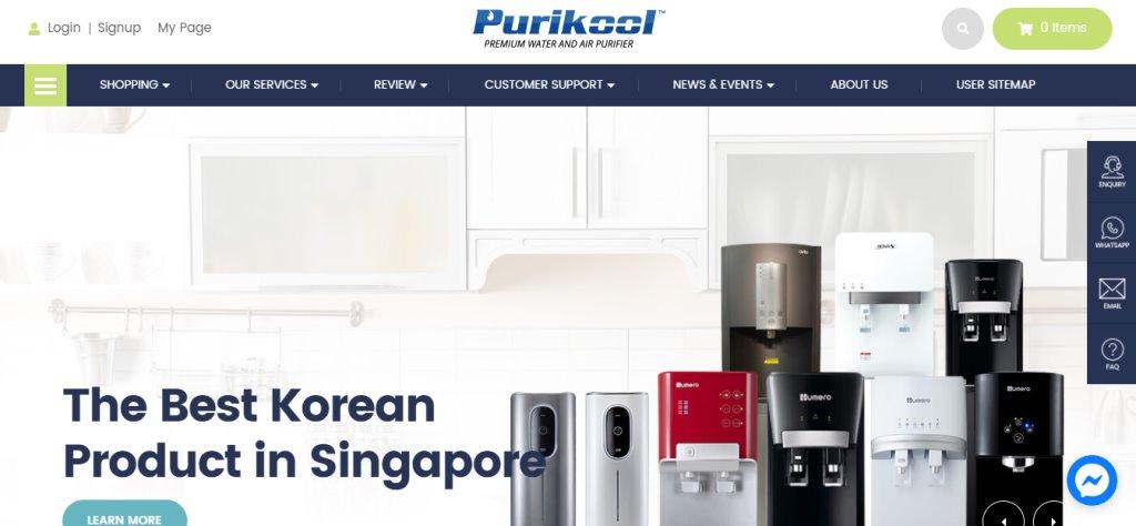 Purikool Top Water Dispensers In Singapore