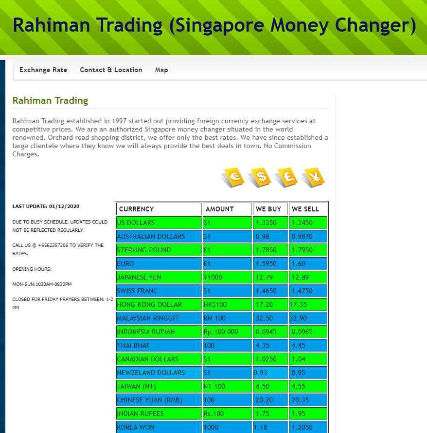 Rahiman Top Money Changers In Singapore