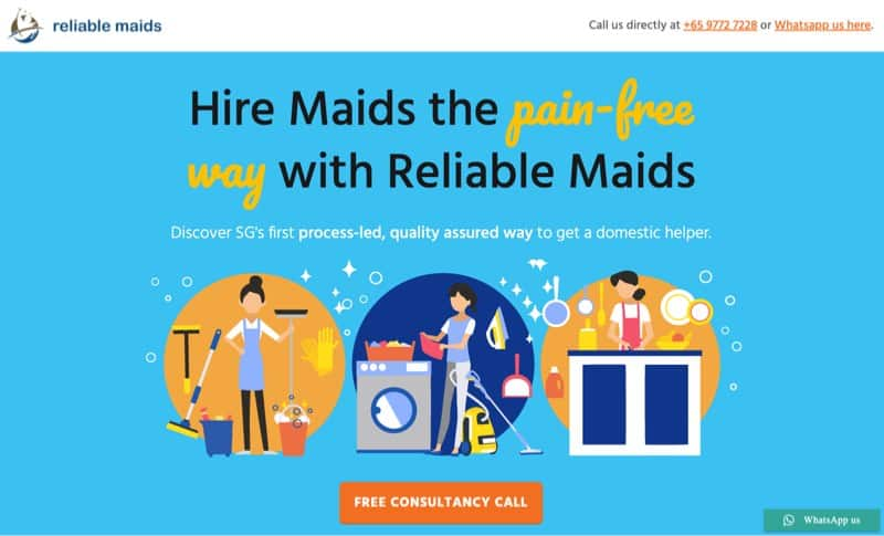 Reliable Maids digital marketing