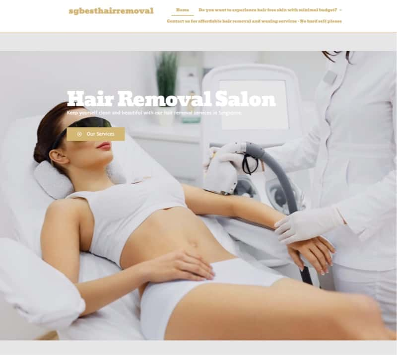SG Best Hair Removal digital marketing
