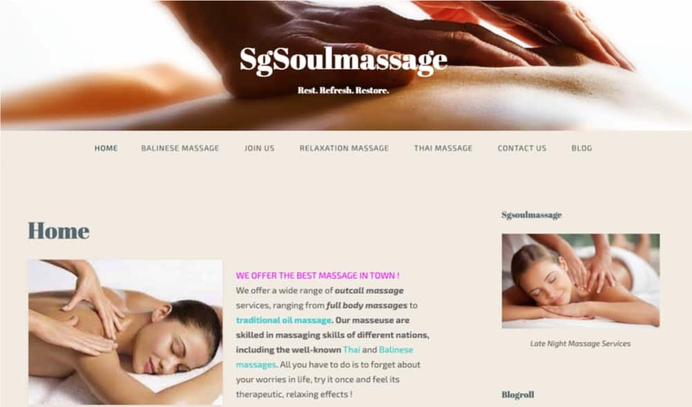 Sg Soul Massage top in singapore
