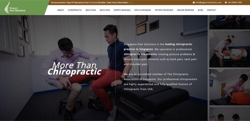 Singapore Pain Solutions digital marketing