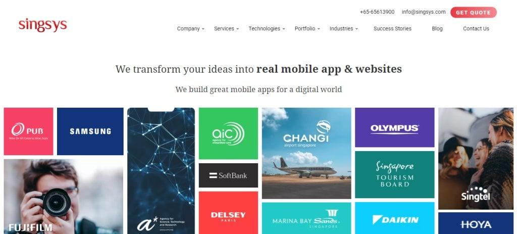 Singsys Top App Developers in Singapore