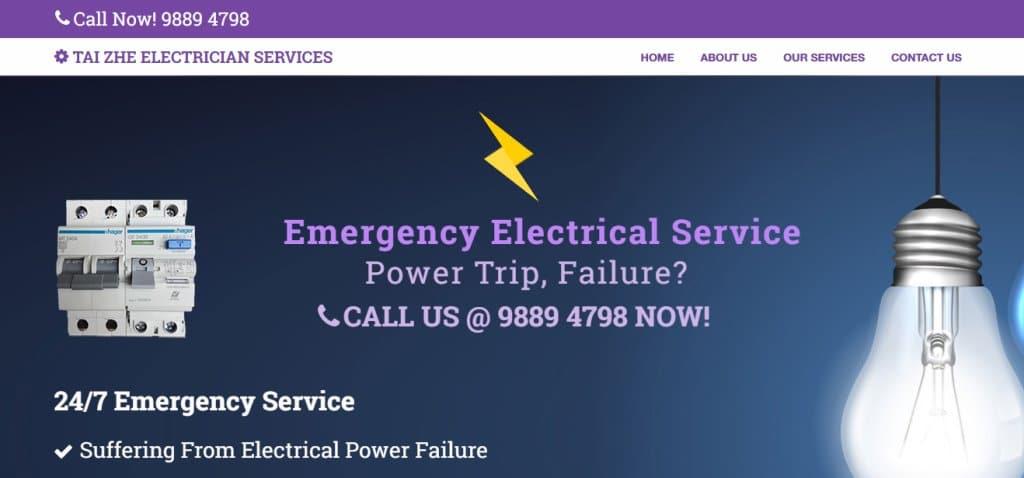 Tai Zhe Top Electricians in Singapore