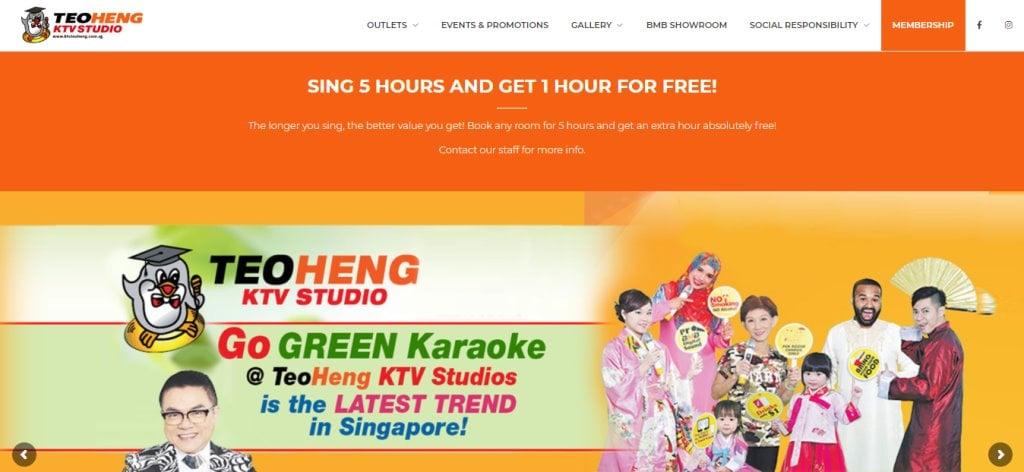 Teo Heng Top KTV Studios In Singapore