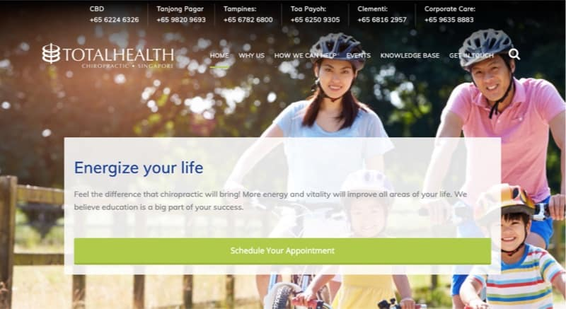 Total Health Chiropractic digital marketing