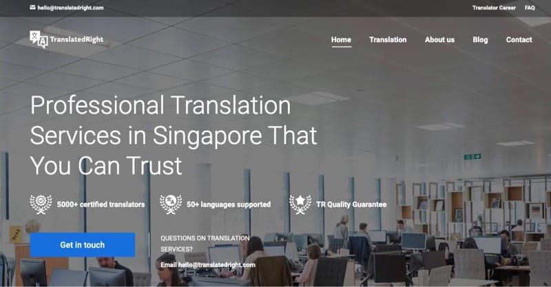 Translated Right digital marketing