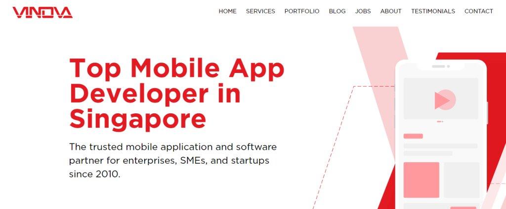 Vinova Top App Developers in Singapore