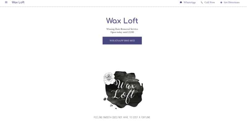 Wax Loft digital marketing