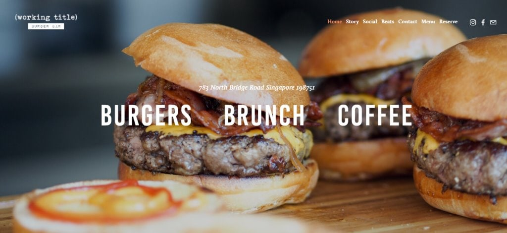 Working Title Top Burgers In Singapore