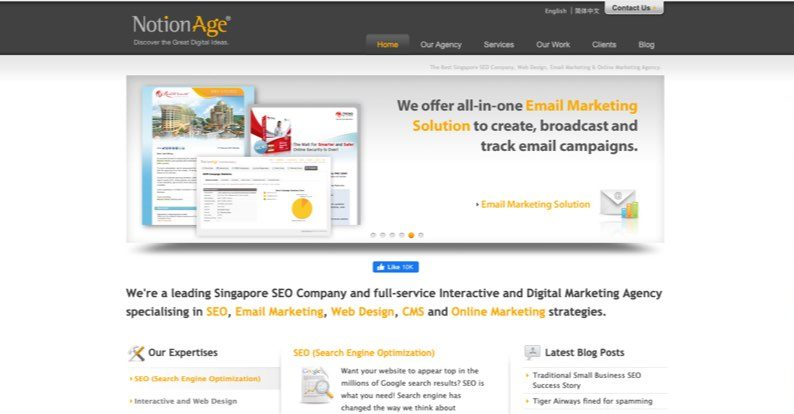 affordable seo singapore notion age