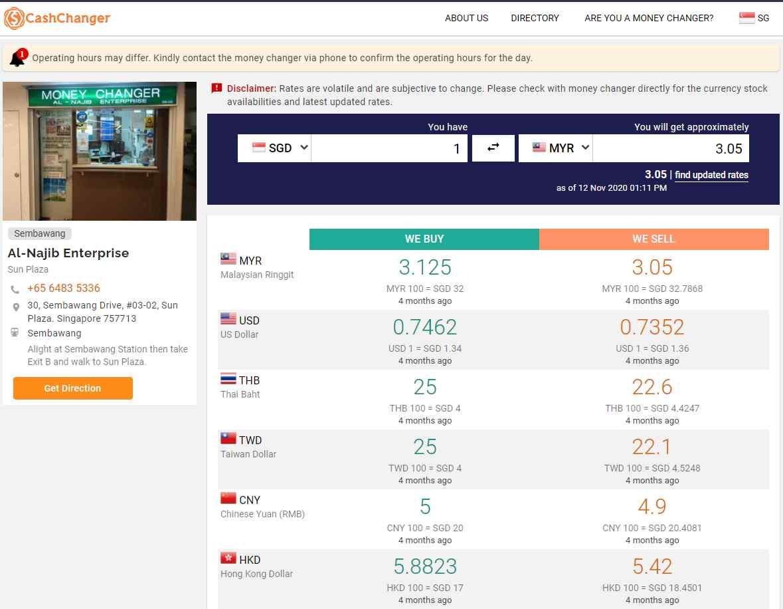 al najib Top Money Changers In Singapore