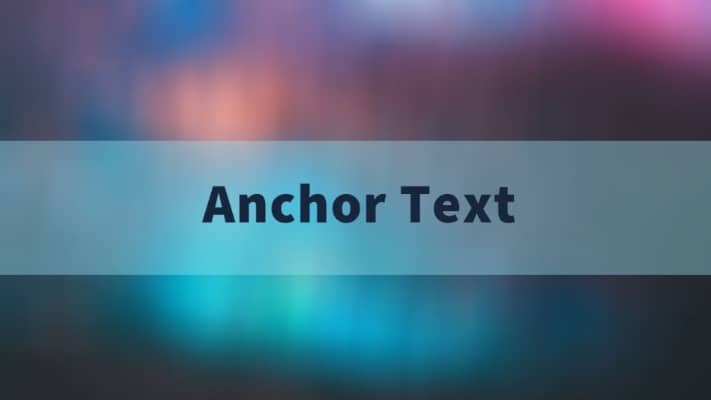 anchor text considerations