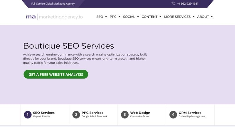 boutique seo services marketingagency io