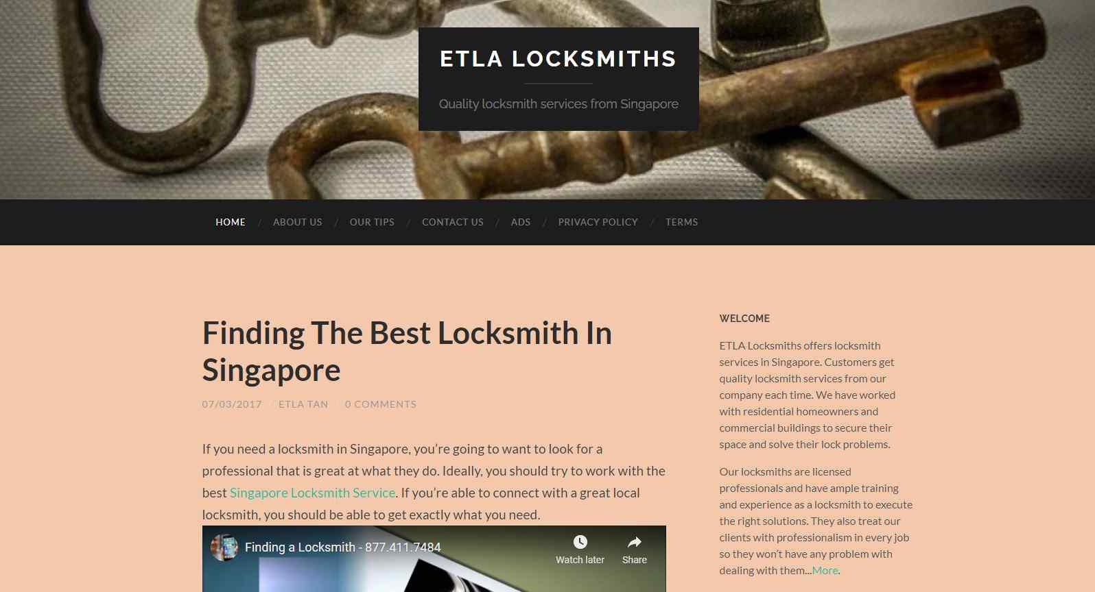 etla Top Locksmiths In Singapore