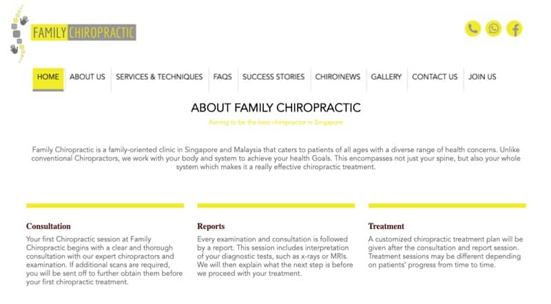 family chiropractic digital marketing