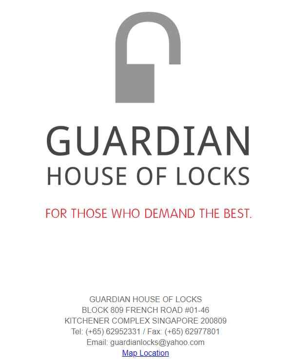guardian Top Locksmiths In Singapore