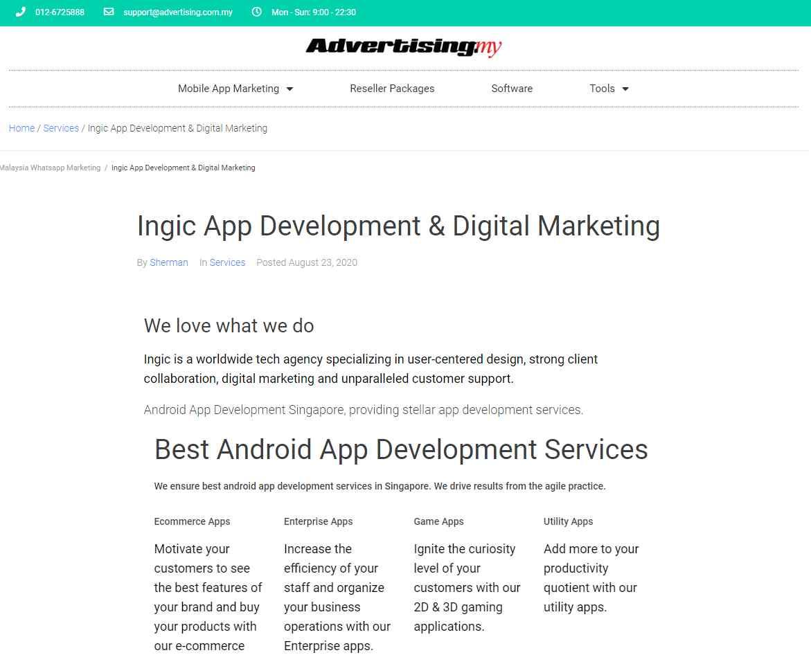 ingic Top 20 Software Developers in Singapore