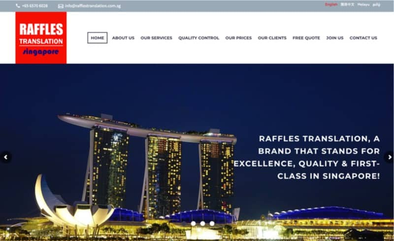 raffles translation digital marketing