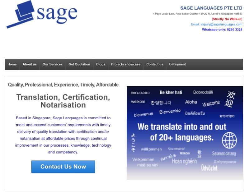 sage translation digital marketing