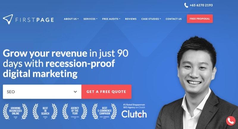 seo singapore company firstpage digital